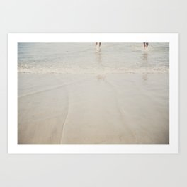 playing in the waves ... Art Print