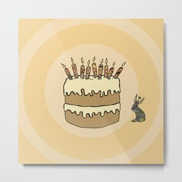 RABBIT CAKE Metal Print