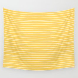 Sunshine Yellow Pinstripes Wall Tapestry