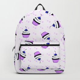 Blue cherries  and hearts Backpack