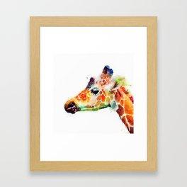 The Graceful - Giraffe Framed Art Print