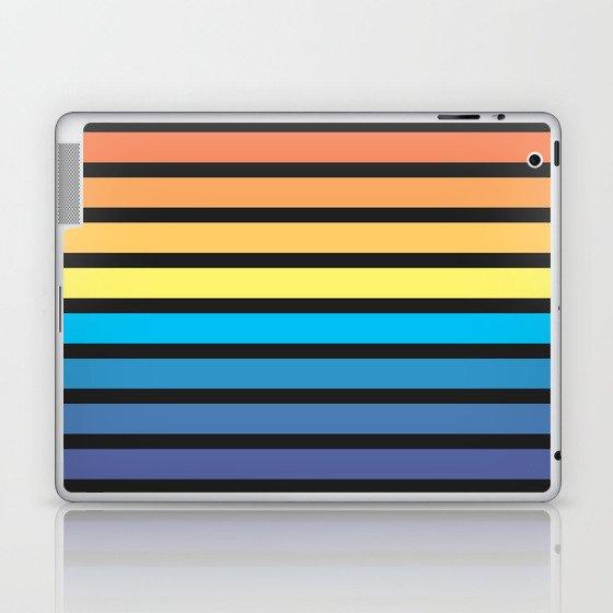 Stripe Sunset Laptop & iPad Skin