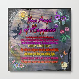 Your Angel of Happiness Metal Print