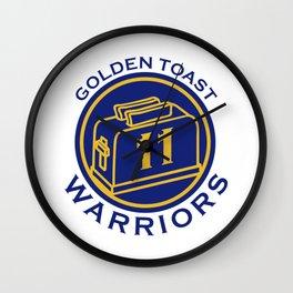 Golden Toast Warriors Wall Clock