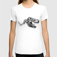 trex T-shirts featuring Jurassic Bloom - The Rex.  by Sinpiggyhead