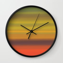 Red Abstract 1004 Wall Clock