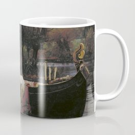 John William Waterhouse The Lady Of Shallot Original Painting Coffee Mug
