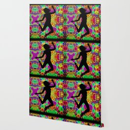 Music and Dance Is Life Motif Wallpaper