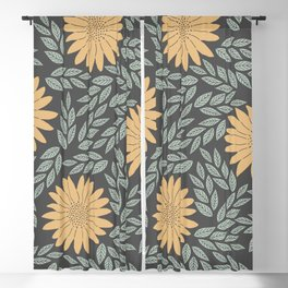 Autumn Flowers Blackout Curtain