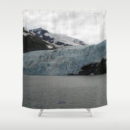 TEXTURES -- A Face of Portage Glacier Shower Curtain