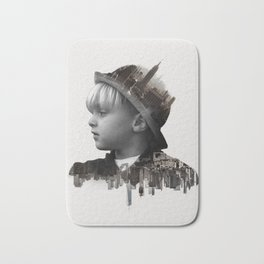 City Kid - Double Exposure Poster Bath Mat