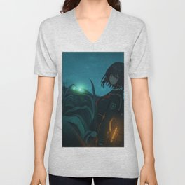 Girl Original Artwork Unisex V-Neck
