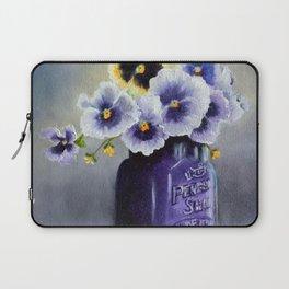 Pansies in a Purple Perfect Seal Jar Laptop Sleeve
