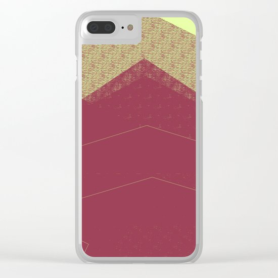 Autumn Red Burgundy Mountain Abstract Clear iPhone Case
