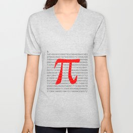 The Constant Pi Unisex V-Neck