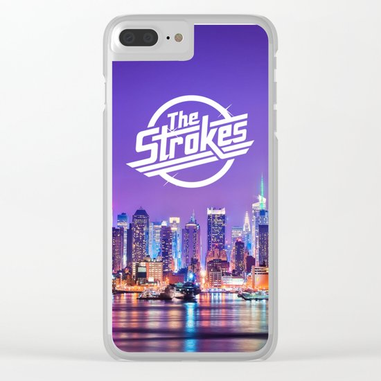 The Strokes Logo New York Night Clear iPhone Case
