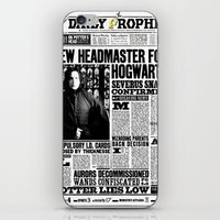 """snape iPhone & iPod Skins featuring Daily Prophet """"NEW Head Master, Severus Snape"""" by Win Graphics"""