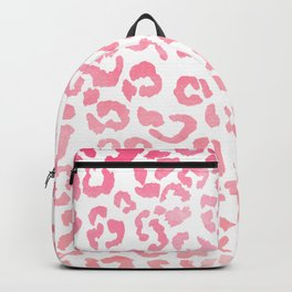 Modern girly pink ombre watercolor leopard pattern Backpack