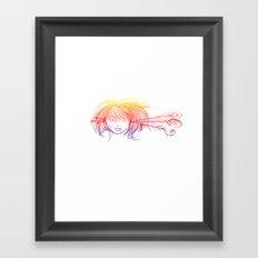Arrow Head (Yellow/Red/Blue) Framed Art Print