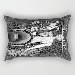 Hel, Watcher of the Dead - Dark Wolf Rectangular Pillow