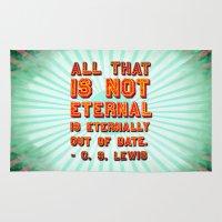 eternal sunshine Area & Throw Rugs featuring Eternal by Peter Gross