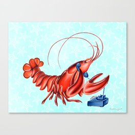 Lobster on the phone Canvas Print