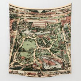Map of Central Park 1860 Wall Tapestry