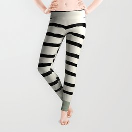 Sage Green x Stripes Leggings