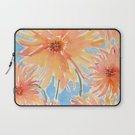Watercolor Fire Flowers Laptop Sleeve