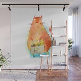 Cat go GREEN Wall Mural