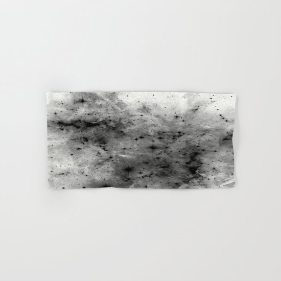 Space Without Colour - Black And White Painting Hand & Bath Towel