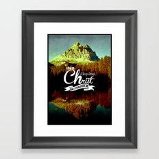 Typography Motivational Christian Bible Verses Poster - Philippians 4:13 Framed Art Print