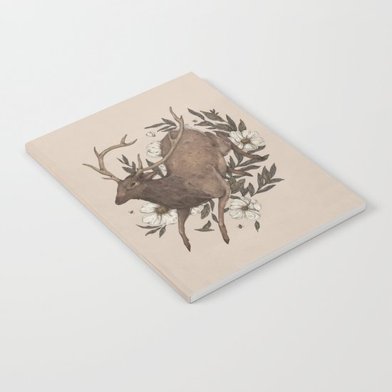 Floral Elk Notebook