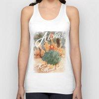aloha Tank Tops featuring ALOHA by TOO MANY GRAPHIX