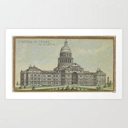 Capitol of Texas in Austin, from the General Government and State Capitol Buildings series (N14) for Art Print