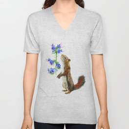 Take Time To Smell The Flowers by Teresa Thompson Unisex V-Neck