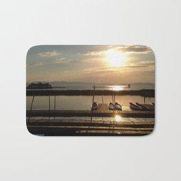 Lake Champlain Ferry to Burlington Vermont at Sunset Bath Mat
