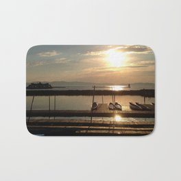 Lake Champlain Ferry to Burlington Vermont at Sunset Bath Mat