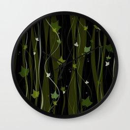 Climbing Vines Dark - English Ivy Wall Clock