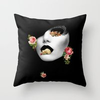noir Throw Pillows featuring : noir : by Bauerhorst