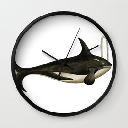 Vintage Orca Wall Clock