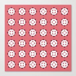 Maroccan Red Stars Canvas Print
