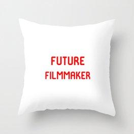 Future Filmmaker Red Film School Student Throw Pillow