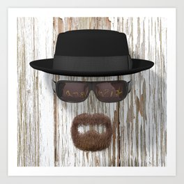 Breaking Bad Heisenberg 01 Art Print