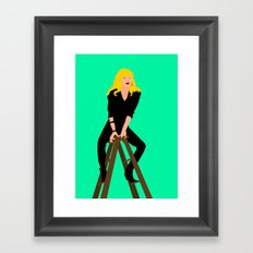 Cool Rider Stephanie Framed Art Print