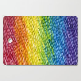 Rainbow Rain Cutting Board