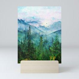 Spring Mountainscape Mini Art Print