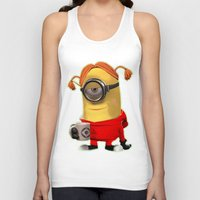 minion Tank Tops featuring MINION by DisPrints