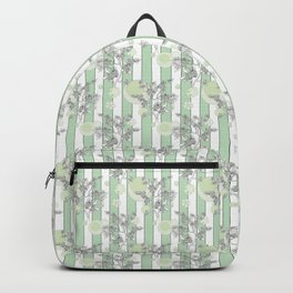 Mint color striped pattern . Backpack