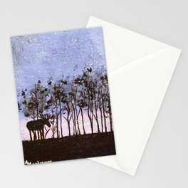 Night Moose Stationery Cards